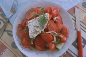 Tomatsallad med ost
